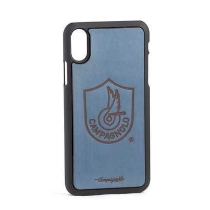 Cover in pelle blu per Iphone X